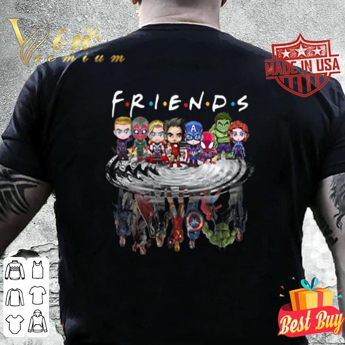 Friends Avengers Chibi characters reflection shirt