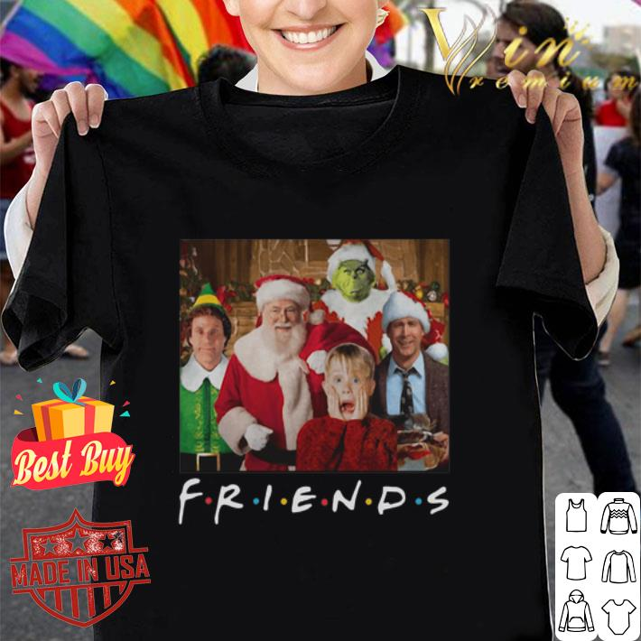 Friends Grinch Elf Santa Clark Griswold Kevin Characters Christmas shirt