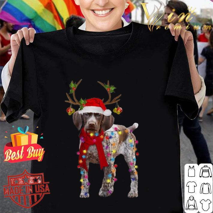 German Shorthaired Pointer reindeer Christmas shirt