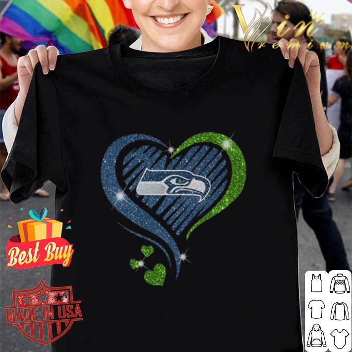 Glitter Love Seattle Seahawks hearts shirt