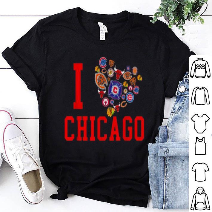 I love Chicago Sports Teams logo shirt