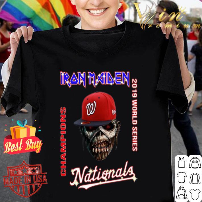 Iron Maiden Washington Nationals 2019 World Series Champions shirt