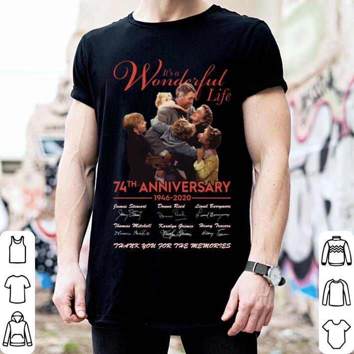 It's a wonderful life 74th anniversary 1946 2020 signature thank shirt