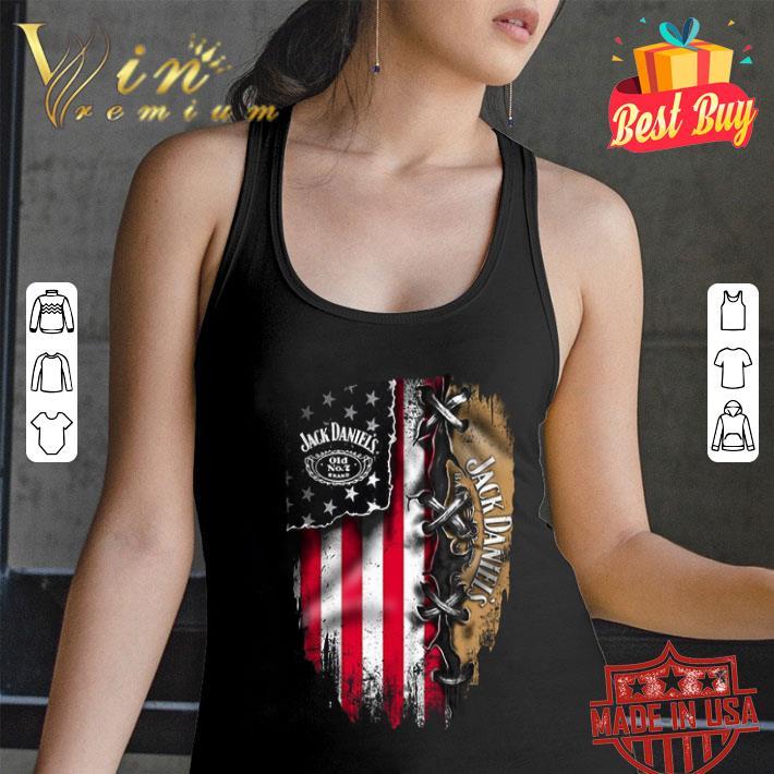 Jack Daniel's inside American flag shirt