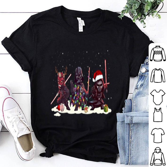 Kylo Ren Darth Vader And Darth Maul Chibi Christmas shirt
