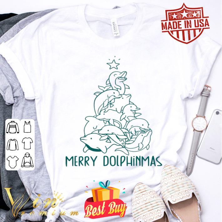 Merry Dolphinmas Christmas tree shirt