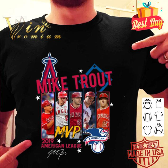Mike Trout Mvp 2019 American League signature Los Angeles Angels shirt
