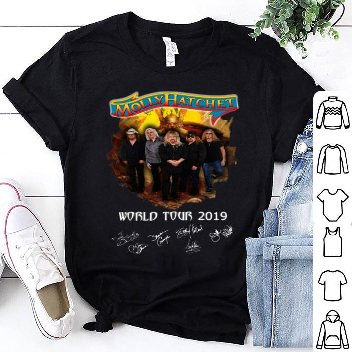 Molly Hatchet world tour 2019 signatures shirt