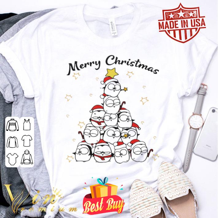 Penguin Merry Christmas Tree shirt
