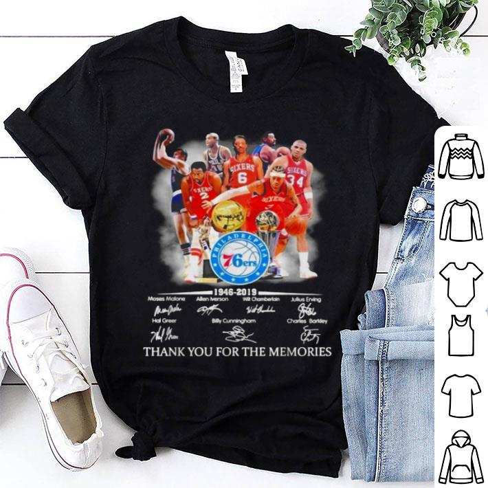 Philadelphia 76ers players signatures thank you for the memories shirt