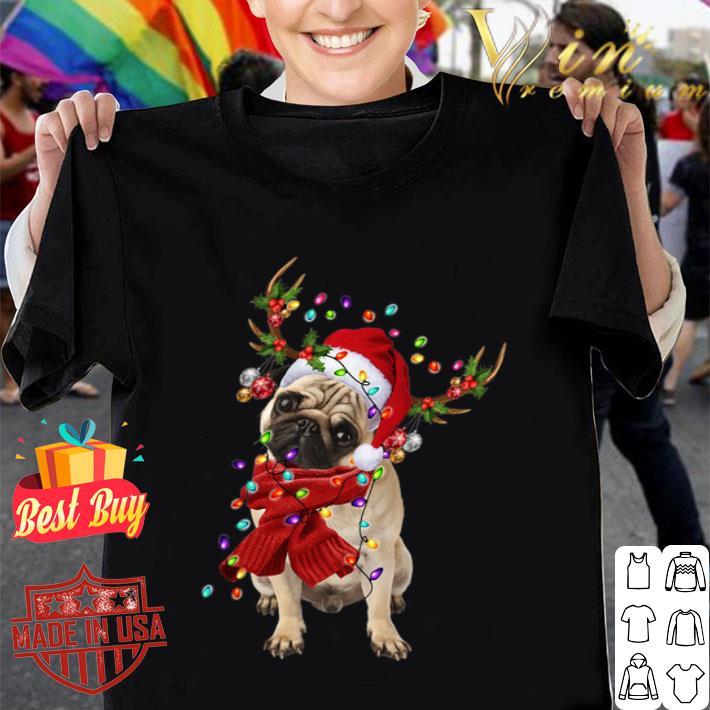 Pug Reindeer Christmas shirt