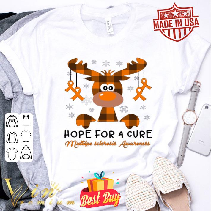 Reindeer hope for a cure Multiple Sclerosis Awareness shirt