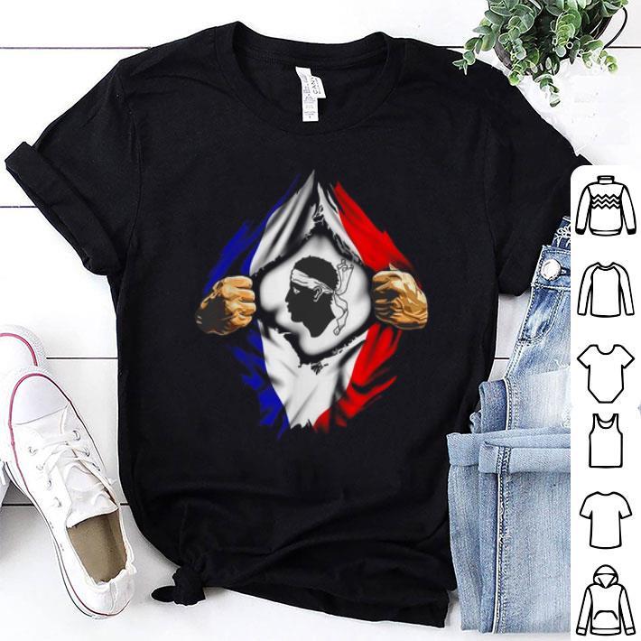 SC Bastia Flag of France inside me shirt