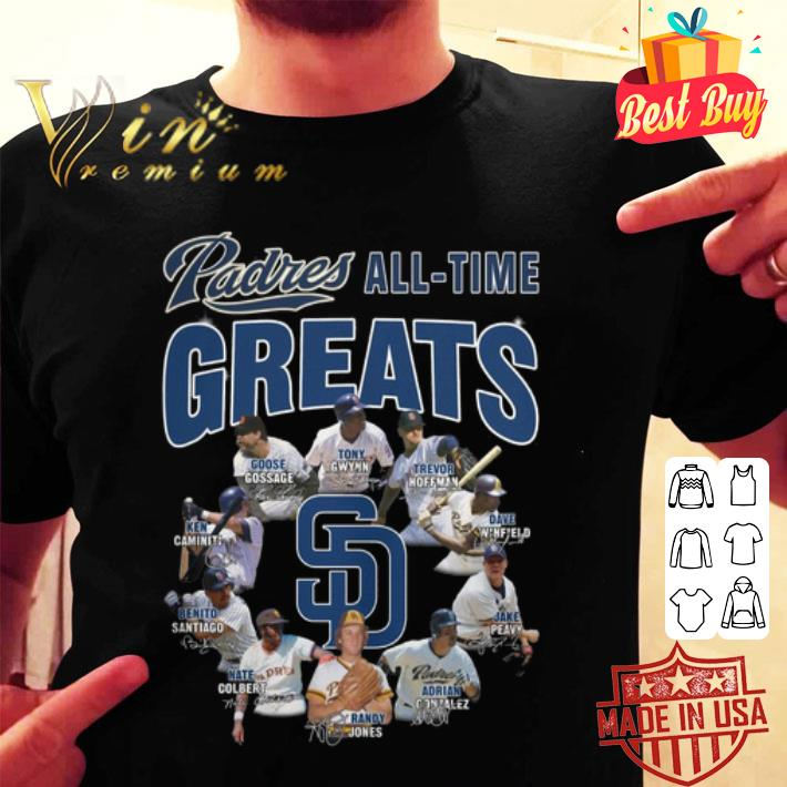 San Diego Padres all time greats signatures shirt