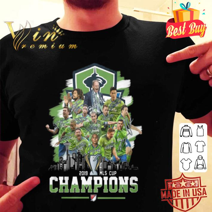 Seattle Sounders FC 2019 MLS Cup Champions shirt
