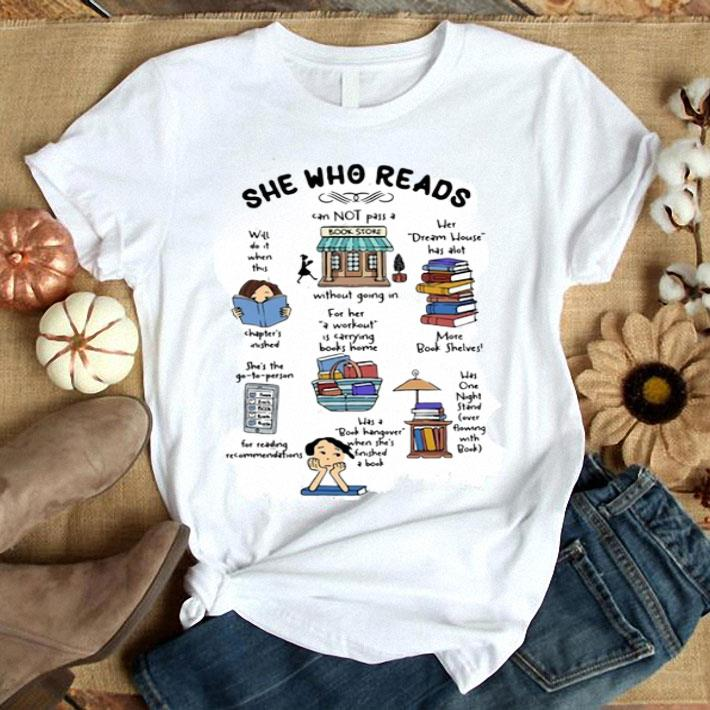 She Who Reads Cannot Pass A Without Bookstore Dream House shirt