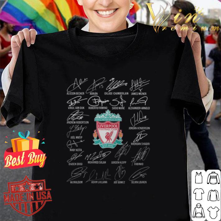 Signatures Liverpool team players shirt