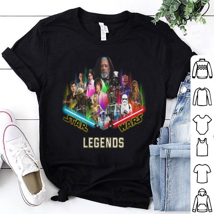 Star Wars Characters Signatures Legends shirt