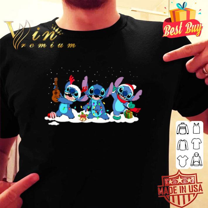 Stitch reindeer Merry Christmas shirt