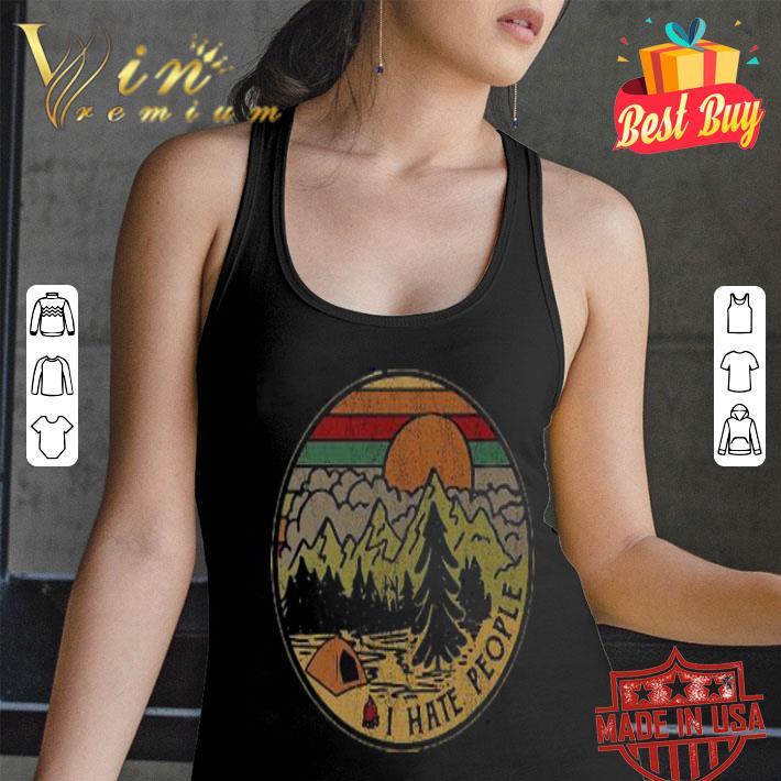 Sunset camping i hate peple vintage shirt