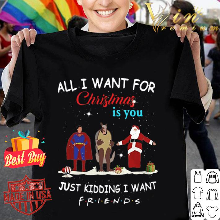 The One with the Halloween Party All i want for Christmas is you just kidding i want Friends shirt