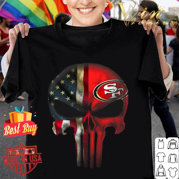 The Punisher Skull American flag San Francisco 49ers shirt