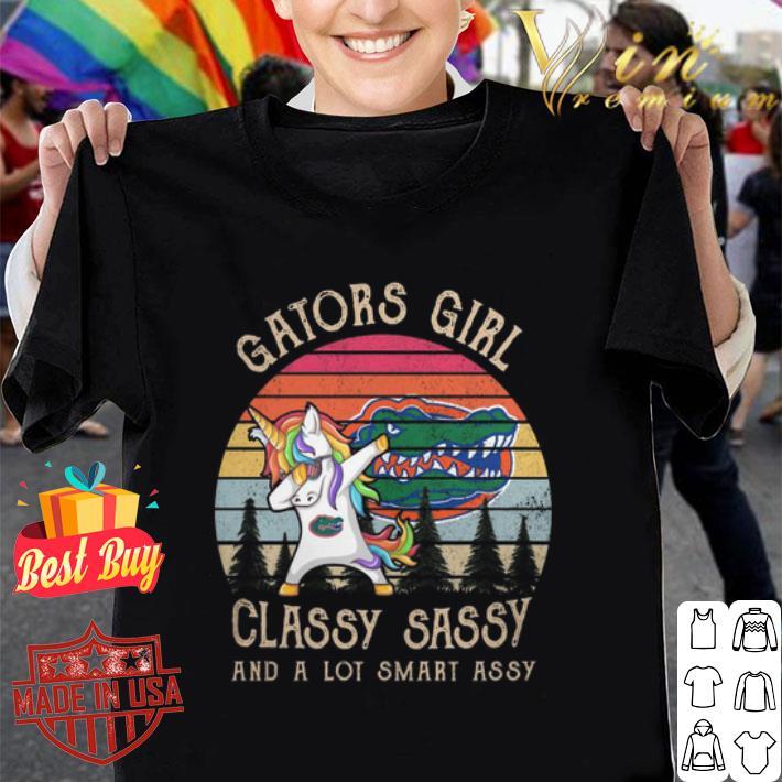 Unicorn Florida Gators girl classy sassy and a lot smart assy shirt