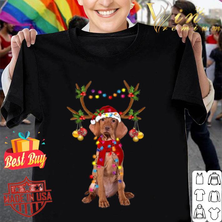Vizsla reindeer Christmas shirt