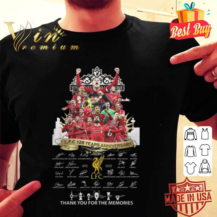 You'll Never Walk Alone Liverpool FC 128 years anniversary shirt