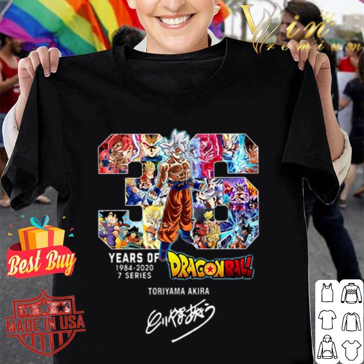 36 Years Of Dragon Ball 1984-2020 Toriyama Akira Signature shirt