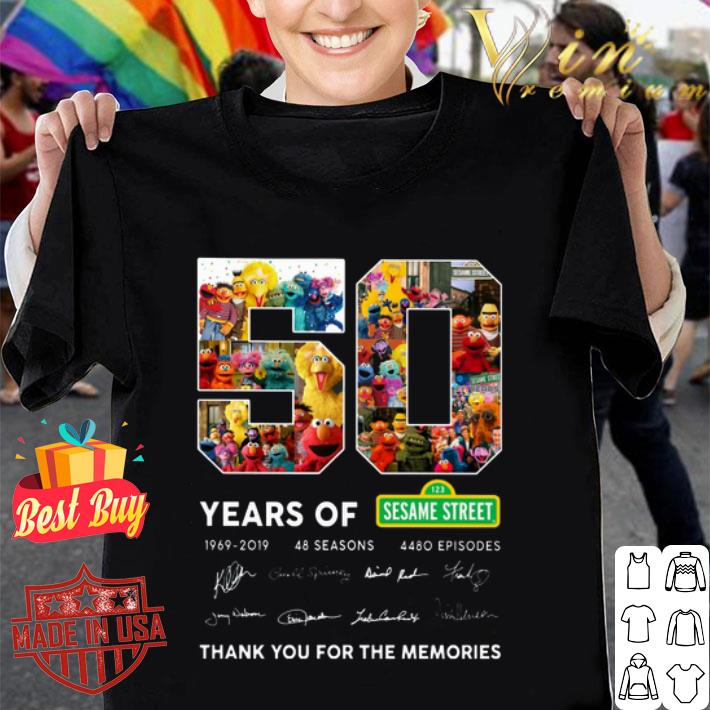 50 years of 123 Sesame Street 1969 2019 thank you for the memories shirt