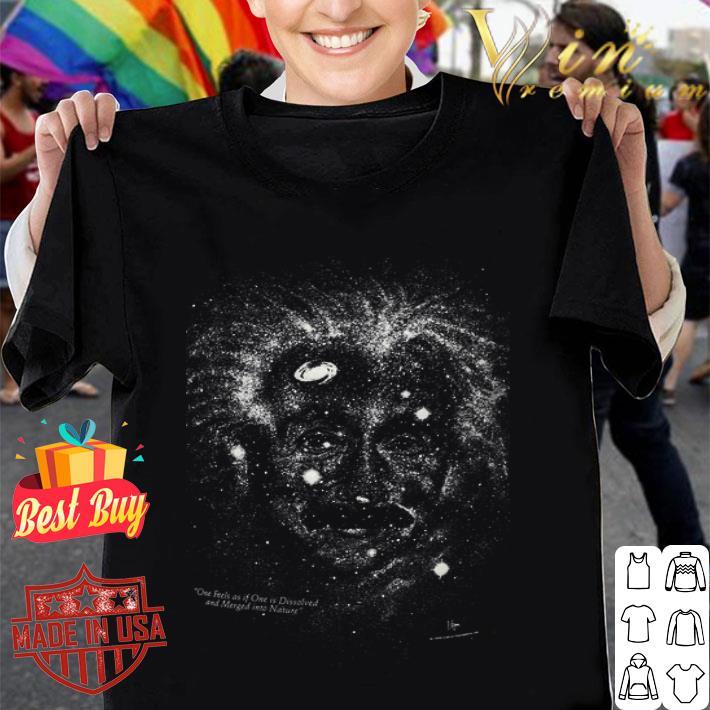 Albert Einstein GLOW in THE DARK Outer Space Galaxy Science 1993 shirt