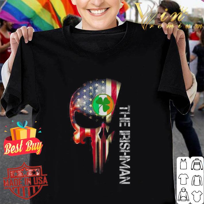 American flag skull The Irishman St Patrick's Day shirt