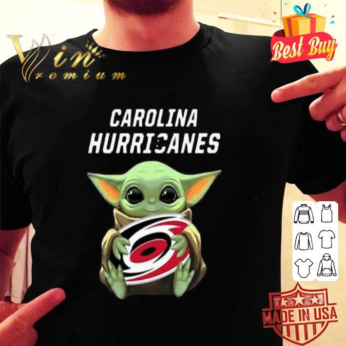 Baby Yoda Hug Carolina Hurricanes shirt