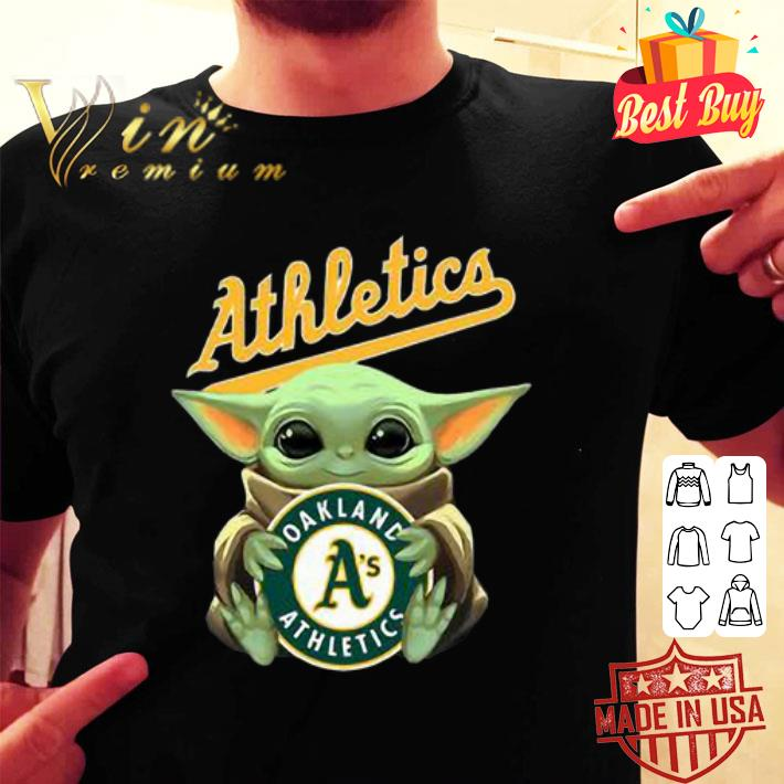 Baby Yoda Hug Oakland Athletics Star Wars shirt