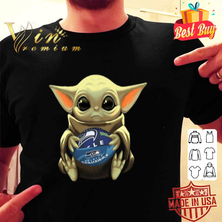 Baby Yoda Hug Seattle Seahawks shirt