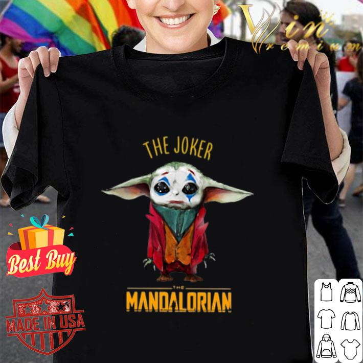 Baby Yoda The Joker The Mandalorian shirt