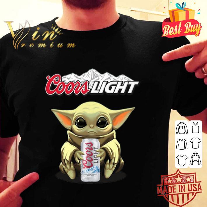 Baby Yoda hug Coors Light Star Wars Mandalorian shirt
