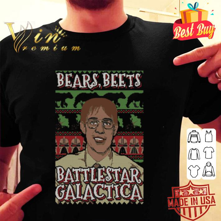 Bears beets battlestar Galactica ugly Christmas sweater