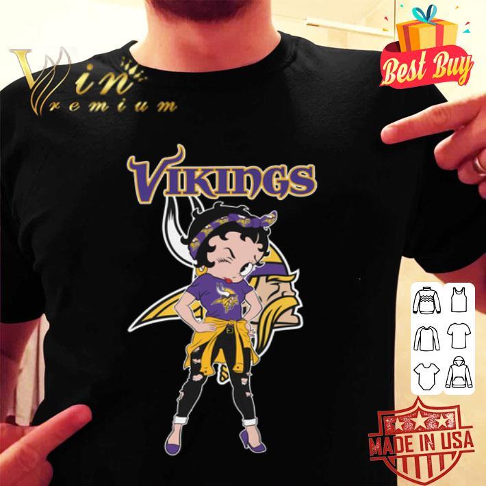 Betty Boop Minnesota Vikings shirt