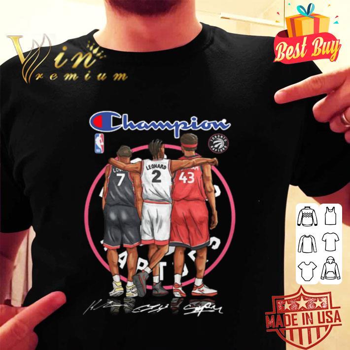 Champions Kyle Lowry Leonard Pascal Siakam Toronto Raptors shirt