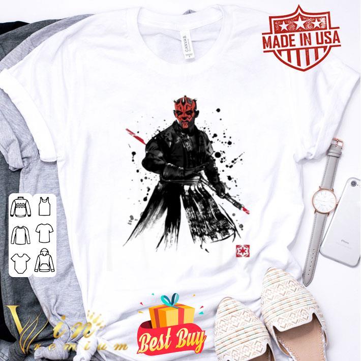 Darth Maul Sith Lord Star Wars Sumi-E shirt