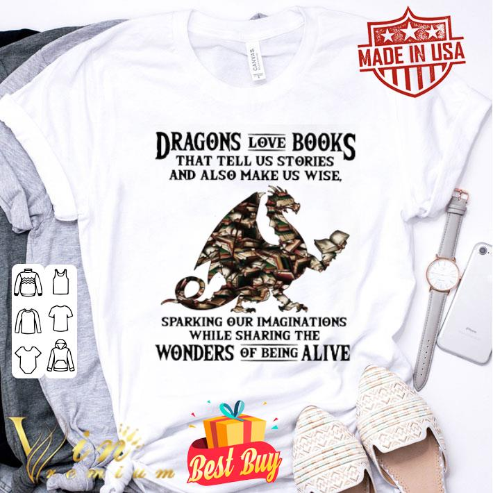 Dragons love books that tell us stories and also make us wise shirt