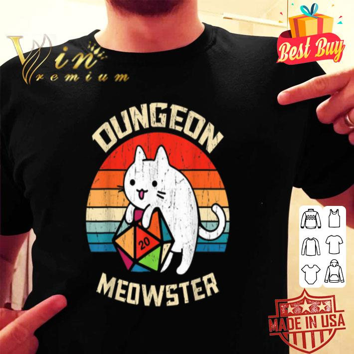 Dungeons & Dragons Meowster Cat D20 Vintage shirt