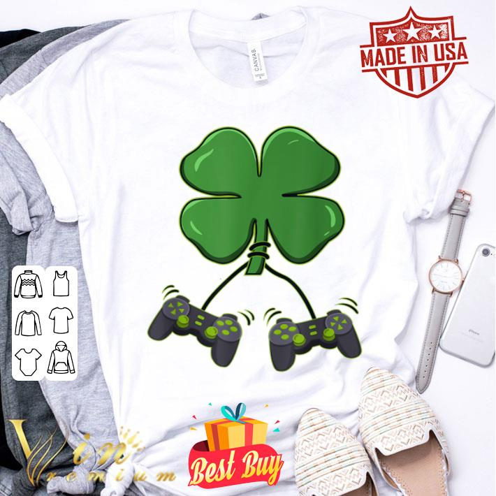 Four leaf clover video game controllers shirt