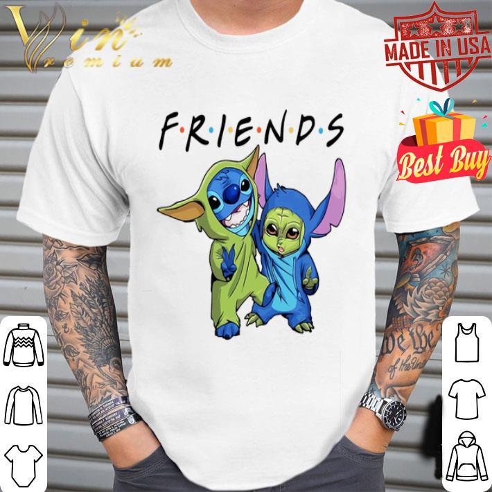 Friends Baby Stitch and Baby Yoda Disney shirt