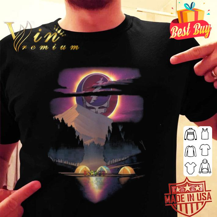 Grateful Dead Logo Camping bear Sunset shirt