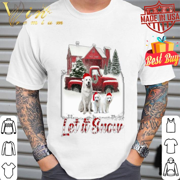 Great Pyrenees let it snow Christmas shirt