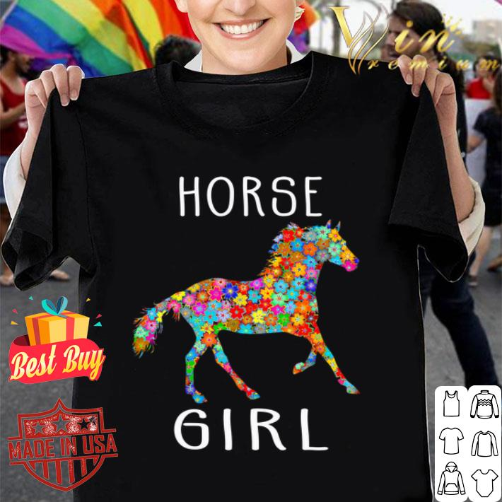 Horse Girl Riding Flower Horses shirt