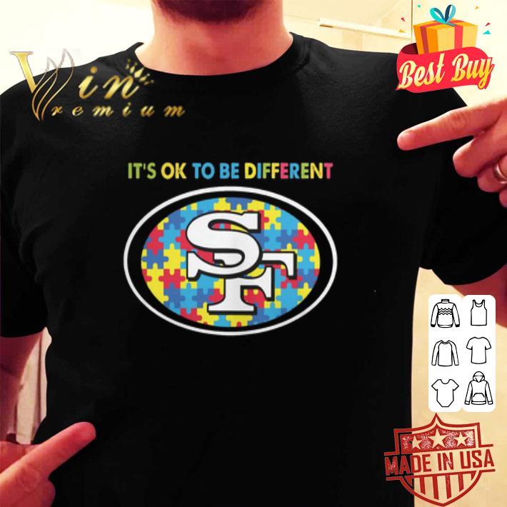 It's ok to be different San Francisco 49ers Autism Awareness shirt